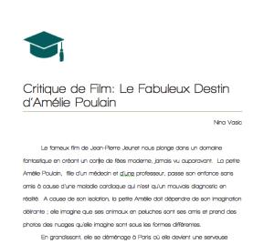 CritiquedeFilm-LeFabuleuxDestind'AmeliePoulain