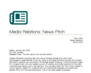 MediaRelations-News Pitch-TriTedInnovations
