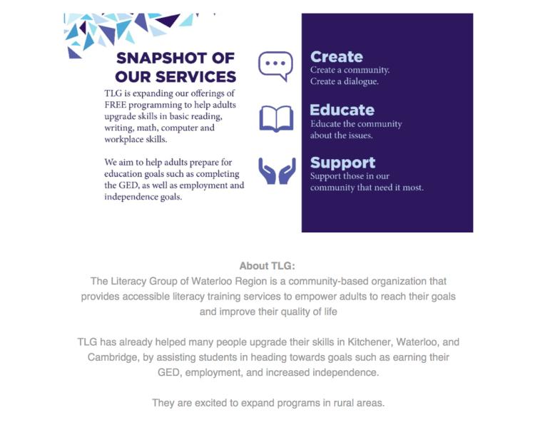 The Literacy Group - Media Release - Elmira 2015 - 3