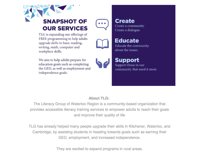 The Literacy Group - Media Release - Elmira 2015 - 3